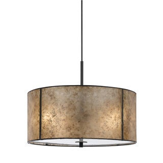 Mica Bronze Metal Round Pendant Light