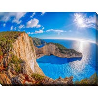 """Navagio Beach, Zakynthos Island, Greece"" Giclee Print Canvas Wall Art"