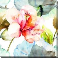 """""""Pink Flower 1"""" Giclee Print Canvas Wall Art"""