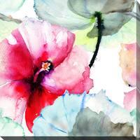 """""""Pink Flower 2"""" Giclee Print Canvas Wall Art"""