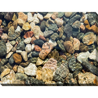 """Water Stones 18"" Giclee Print Canvas Wall Art"