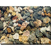 """""""Water Stones 18"""" Giclee Print Canvas Wall Art"""