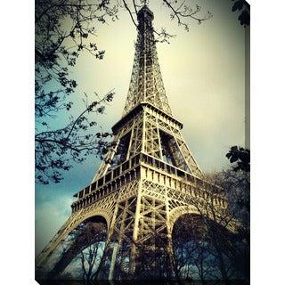 """Eiffel Tower 2"" Giclee Print Canvas Wall Art"