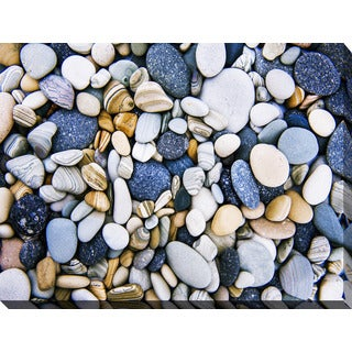 """Water Stones 16"" Giclee Print Canvas Wall Art"