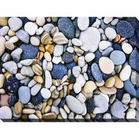 """""""Water Stones 16"""" Giclee Print Canvas Wall Art"""