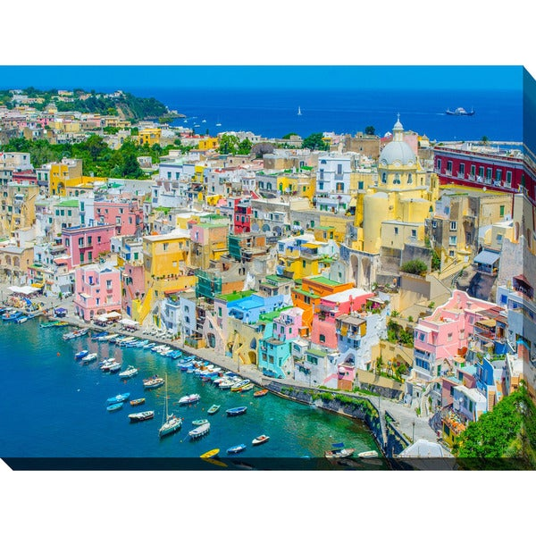 """Napoli"" Giclee Print Canvas Wall Art"