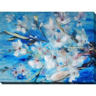 """Botanic Blues"" Giclee Print Canvas Wall Art"