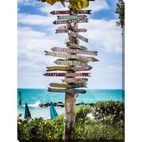 """Key West Signs"" Giclee Print Canvas Wall Art"