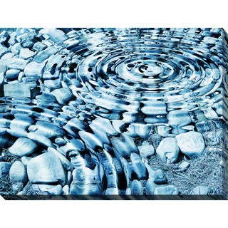 """Water Stones 1"" Giclee Print Canvas Wall Art"