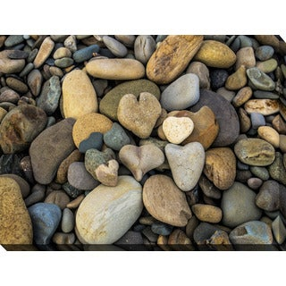 """Water Stones 13"" Giclee Print Canvas Wall Art"