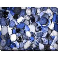 """""""Water Stones 12"""" Giclee Print Canvas Wall Art"""