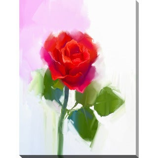 """Rose"" Giclee Print Canvas Wall Art"