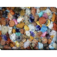 """""""Water Stones 11"""" Giclee Print Canvas Wall Art"""