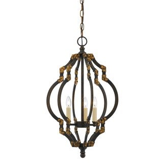 Howell Black/Brown Metal Pendant Light Fixture