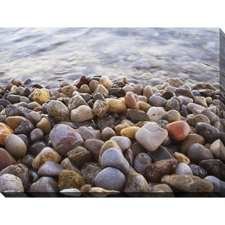 """Water Stones 10"" Giclee Print Canvas Wall Art"