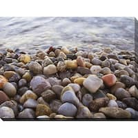 """""""Water Stones 10"""" Giclee Print Canvas Wall Art"""