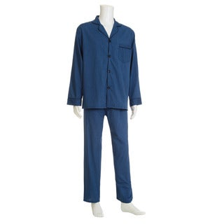 Hanes Men's Cotton and Polyester Solid 2-piece Woven Pajama Set