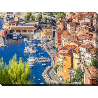 """""""French Riviera"""" Giclee Print Canvas Wall Art"""