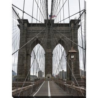 """Brooklyn Bridge 3"" Giclee Print Canvas Wall Art"