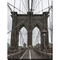 """Brooklyn Bridge 3"" Giclee Print Canvas Wall Art"