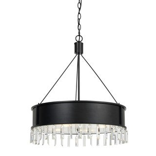 Roby Metal Glass Round Shade 4-light Chandelier