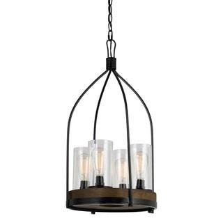Chardon Metal/Wood 4-light 60-watt Light Fixture
