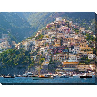 """Positano, Amalfi Coast"" Giclee Print Canvas Wall Art"