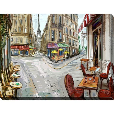"""""""Day in Paris"""" Giclee Print Canvas Wall Art"""