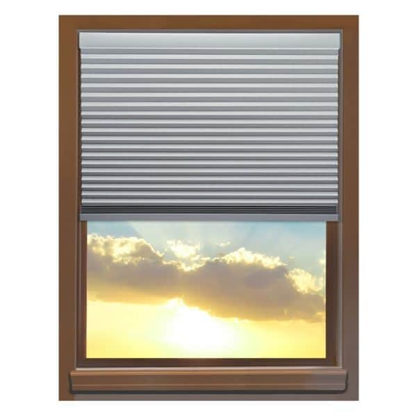Linen Avenue Custom Cordless 70 to 71-inch Wide Platinum Blackout Cellular Window Shade