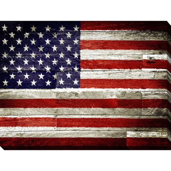 """USA"" Giclee Print Canvas Wall Art"