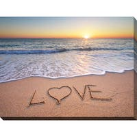 """LOVE"" Giclee Print Canvas Wall Art"