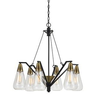 Ellyn Glass 6-light 60-watt Chandelier