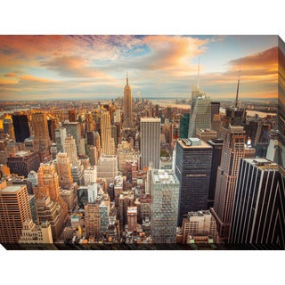 New York City Canvas Wall Art handmade new york skyline canvas wall art (china) - free shipping