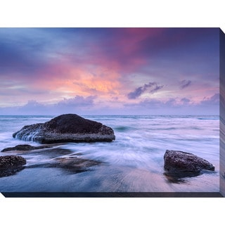 """Purple Sunset"" Giclee Print Canvas Wall Art"