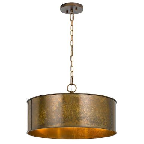 Rochefort Goldtone Metal 3-light Chandelier