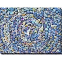 """""""Water Stones 7"""" Giclee Print Canvas Wall Art"""