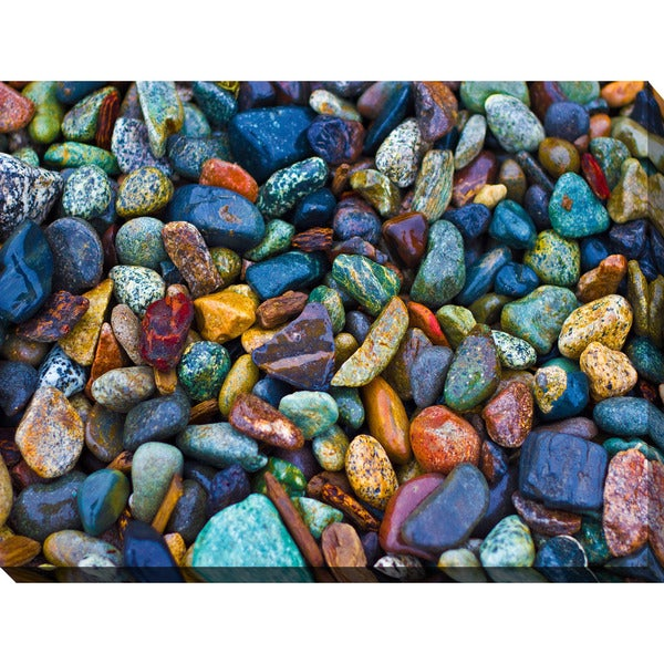 """Water Stones 2"" Giclee Print Canvas Wall Art"