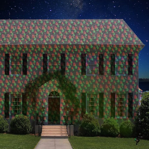 Outdoor Christmas Laser Light Show Red and Green 12-pattern Projector