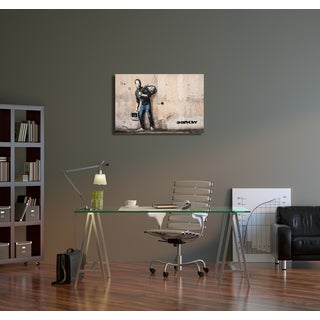 "Banksy ""Steve Jobs"" Gallery Wrapped Canvas Wall Art"