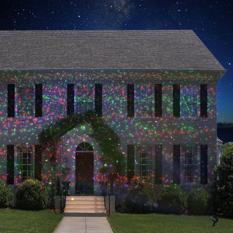 Red/Green/Blue Holiday Light Projectors With 12 Patterns