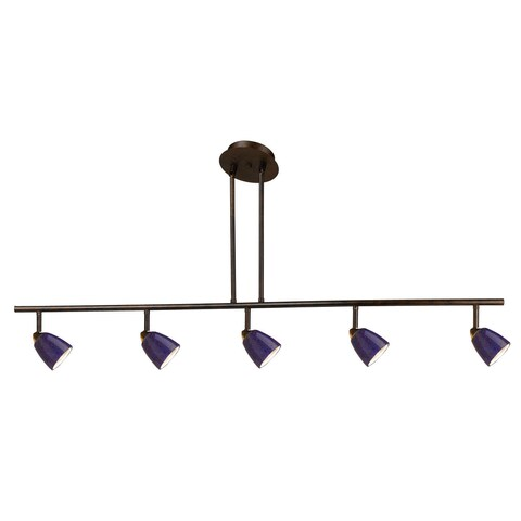 Orbit Blue and Brown Metal 120-volt 50-watt 5-light GU-10 Track Lighting Fixture