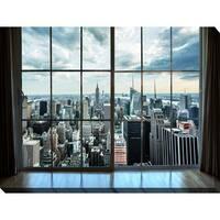 """New York Window"" Giclee Print Canvas Wall Art"