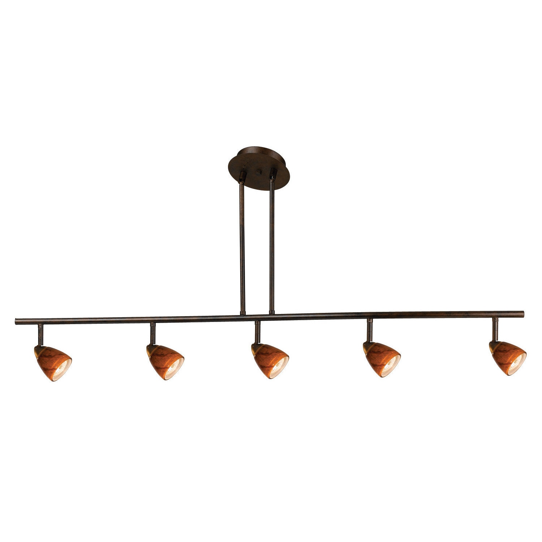 Shop Orbit Brown Metal 120 Volt 50 Watt 5 Light Gu 10 Track Lighting Fixture Overstock 13742771