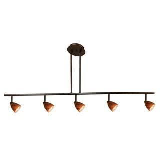 Orbit Brown Metal 120-volt 50-watt 5-light GU-10 Track Lighting Fixture