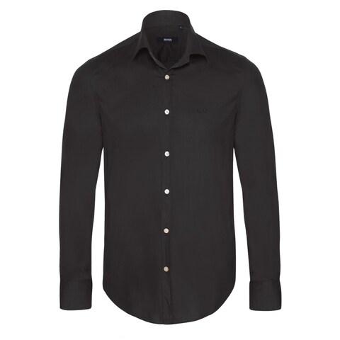Hugo Boss Men's Black Dress Shirt