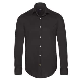 Hugo Boss Men's Black Dress Shirt|https://ak1.ostkcdn.com/images/products/13742785/P20400248.jpg?impolicy=medium