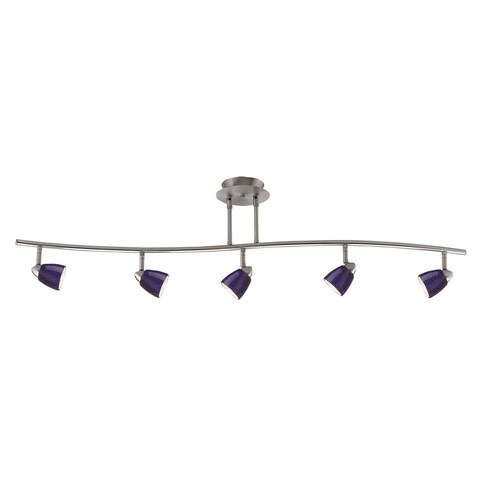 Orbit Blue and Silver-tone Metal 120-volt 50-watt 5-light GU-10 Track Lighting Fixture