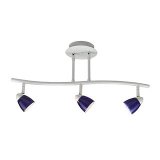 blue track lighting. Serpentine White Finish Blue Shade 3-light Track Lighting
