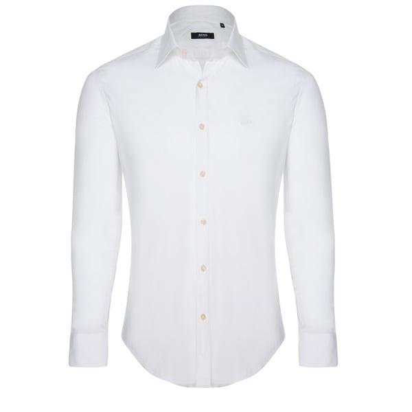 1fbc10251 Shop Hugo Boss Men's White Dress Shirt - On Sale - Ships To Canada ...