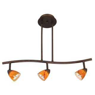 Serpentine Yellow and Brown Metal 120-volt 50-watt 3-light Track Lighting